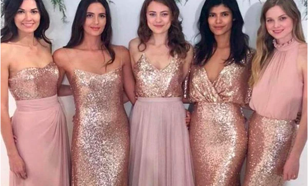 2 Things to Check before Buying Rose Gold Bridesmaid Dresses for Your Crew