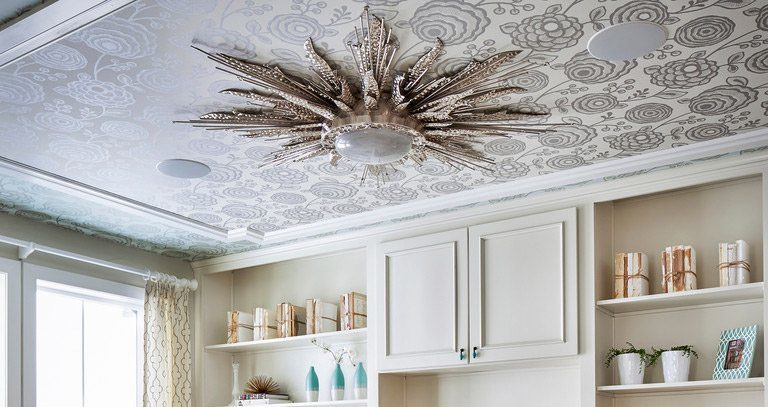 4 Custom Wallpaper Ideas not to Miss out for Changing the Look of the Ceilings