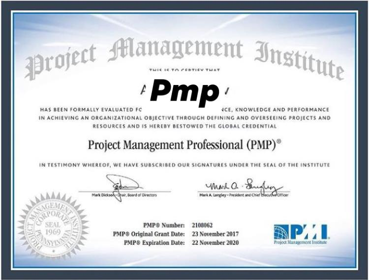 What is the reason to have a PMP certificate?