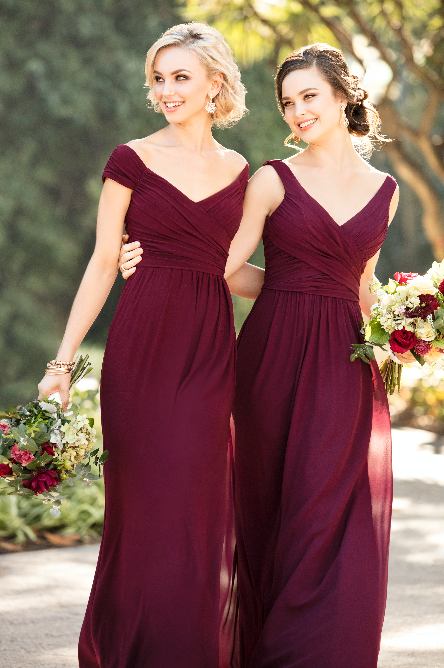 How to Look Good in a Burgundy Bridesmaid Dress: 3 Necklines to Remember