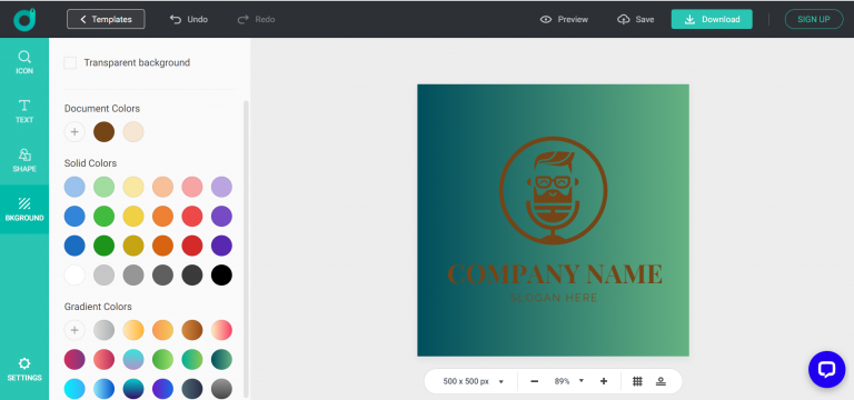 DesignEvo: A Learn-free Tool to Make a Logo in Minutes