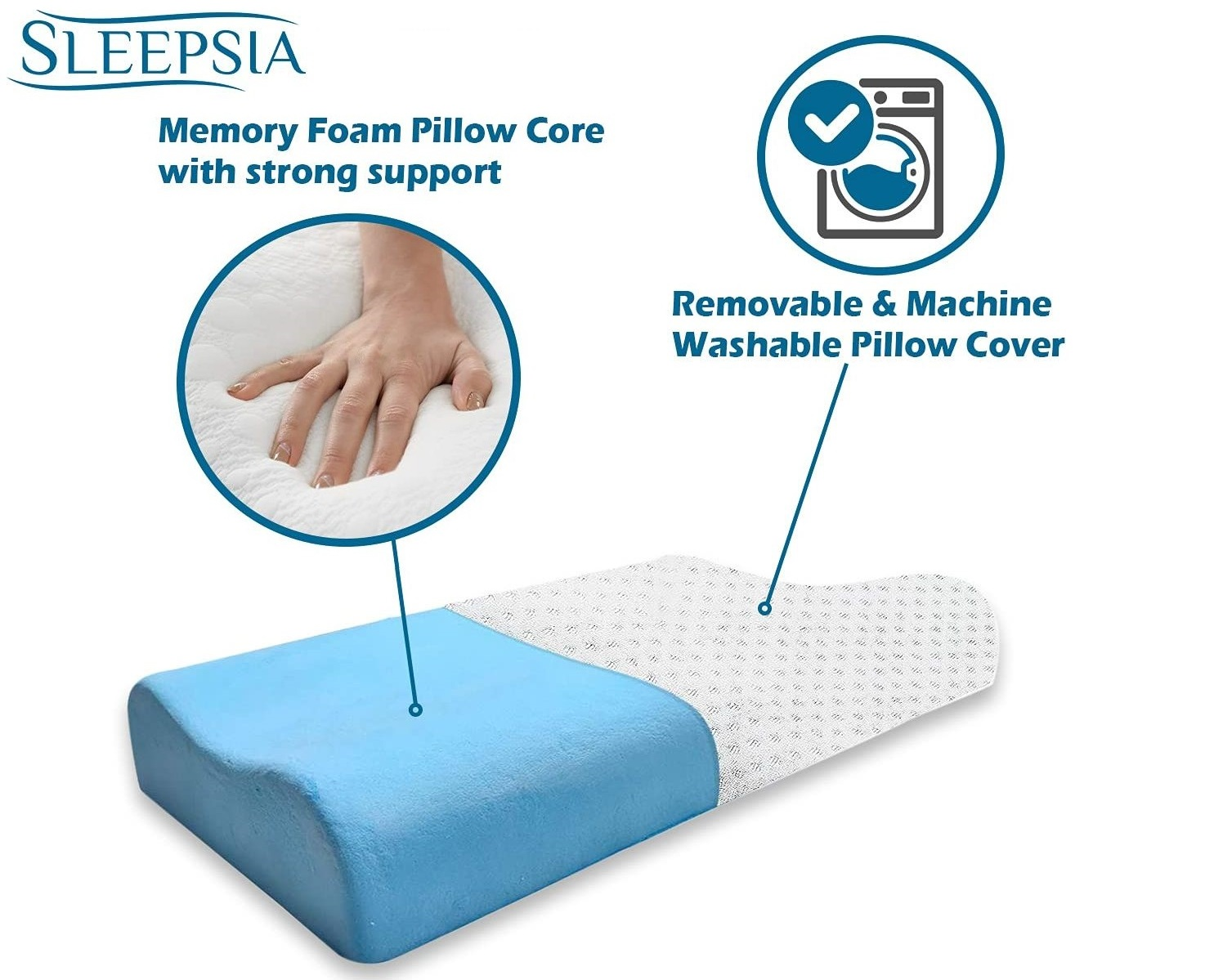 Best Pillow for Cervical Pain and Neck Pain: Memory Foam Pillow