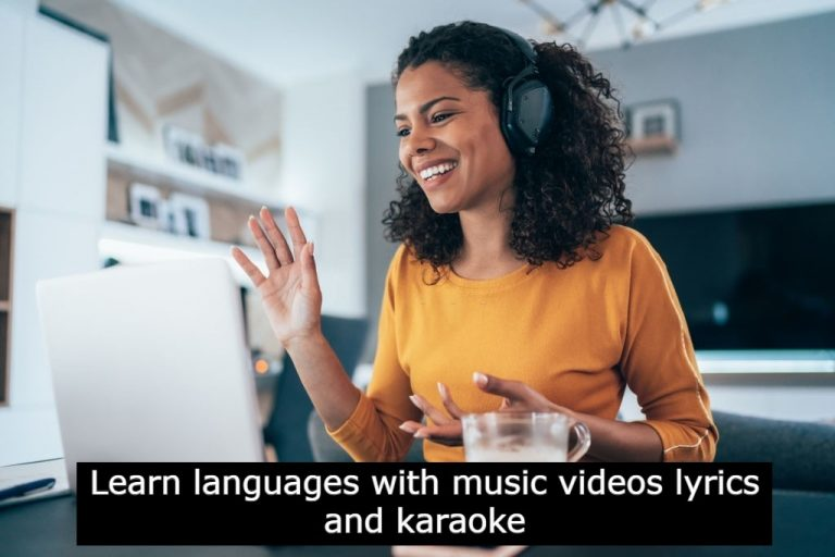 Learn languages with music videos lyrics and karaoke