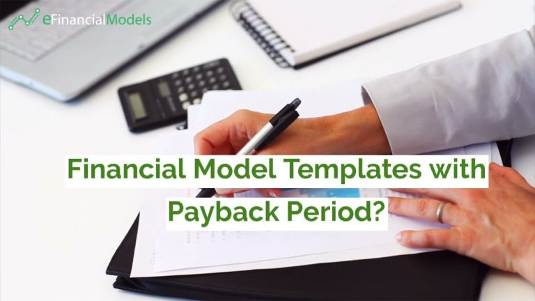Download Templates for Payback Period on Any Financial Model
